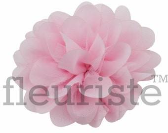 "LIGHT PINK 5"" Chrysanthemum Flower, Wholesale Flower, Fabric Flower, Headband Flower, Flower Embellishment,  Diy Flower, DIY chiffon flower"