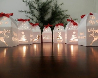 Paper lanterns with led light