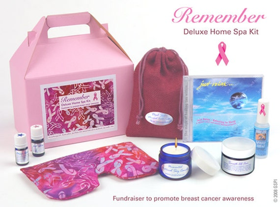 breast cancer pink ribbons aromatherapy home spa kit spa. Black Bedroom Furniture Sets. Home Design Ideas