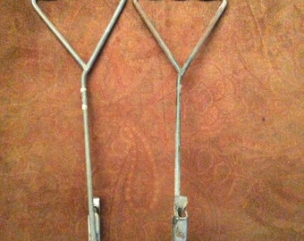 Two Metal hooks, vintage hooks
