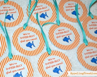 Fish Birthday Party Favor Tags, Fish Favor Tags, Fish Party, Fishy Birthday, Party Tags, Fish Party, Favor Tags, Goldfish Favor Tags