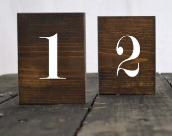 Set of 20 Rustic Wedding Table Numbers, Block Table Numbers, Rustic Wedding Decor,Spring Wedding, Summer Wedding, Wedding Tables