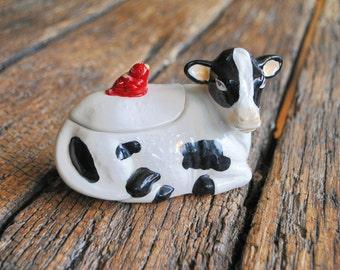 Ceramic Sugar Cow Dish