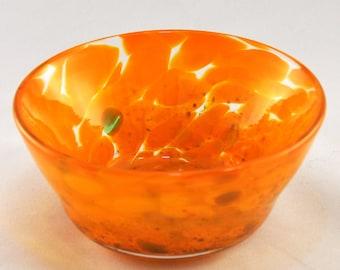Spotted Saffron Orange Offering Bowl