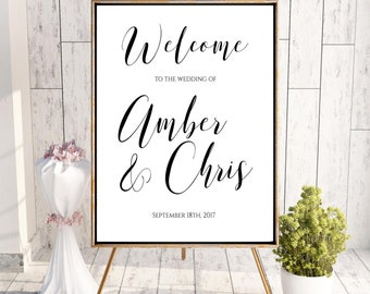 Welcome To Our Wedding, Welcome Wedding Sign, Printable Welcome Sign, Welcome Sign, Custom Welcome Sign, Minimalist, Simple Welcome Sign
