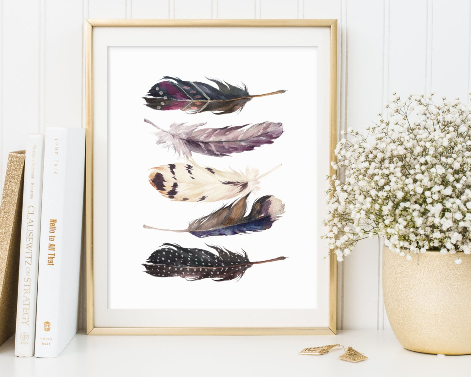 Art Décor: Feathers Wall Art Feathers Printable Feathers Print
