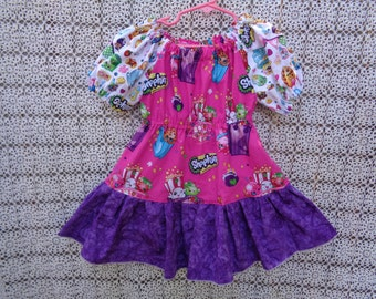 Shopkins  Ruffled Peasant Dress-Size 3