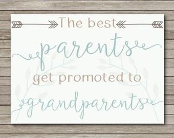 Pregnancy Announcement for Grandparents - INSTANT DOWNLOAD