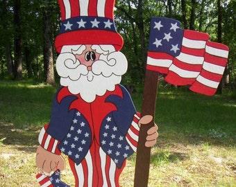 Patriotic Uncle Sam 4th Fourth of July Americana Yard Art Lawn Decoration