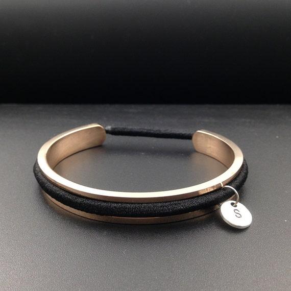 Hair Band Bracelet Holder Charm Bracelet Hair Band holder Bracelet Cuff  Personalized Bracelet Silver Gold Rose dd1a9b8fd80