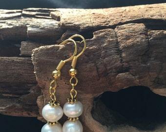 Pearl Earrings Freshwater Boroque Pearls