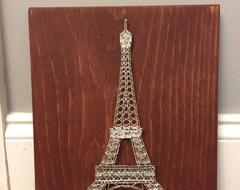 Eiffel Tower string art, paris art, paris declr, Eiffel Tower decor, parisian decor, gallery wall