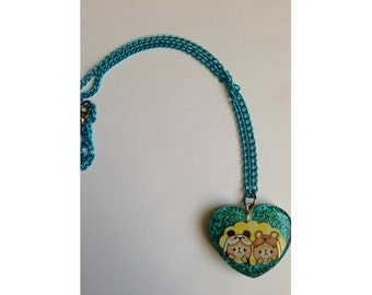 Electric Green Necklace bears