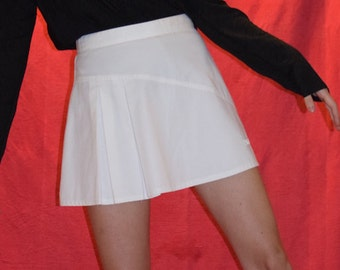 Vintage White Tennis Skirt with pleats