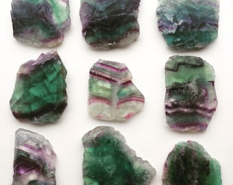 Beautiful rainbow Flourite slab