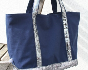 Blue bag Navy sequined style VB