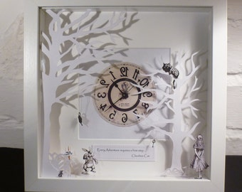 ALICE'S Adventures In Wonderland - 3D Shadow Box Art - Personalised Option available
