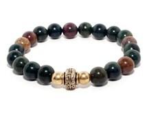 Bloodstone Bracelet - Spiritual, ethically sourced vegan jewellery.
