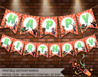 Zootopia Birthday Banner. Digital Printable Zootopia Banner. Zootopia Birthday Party Banner. Zootopia Party Decoration. Instant Download.