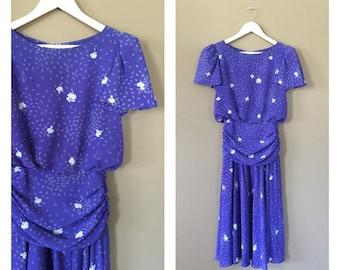 90s Mini Dress / Vintage 90s Dress/ Vintage Floral Dress / Grunge Dress / Floral Minidress / 90s Clothing / 90s floral dress