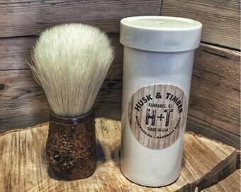 Husk & Timber Mulberry Boar Travel Shaving Brush
