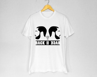 Back II Back T-Shirt - WHITE
