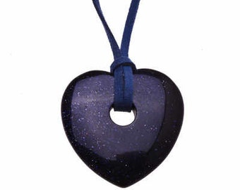 Venus Large - Blue Sandstone Heart Pendant