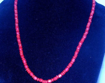 Vintage Necklace with Red Beads