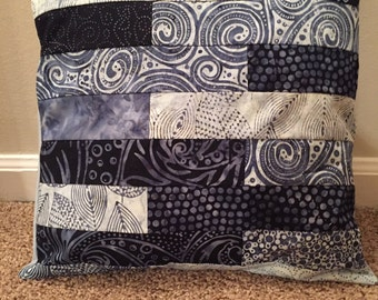 Handmade Quilted Envelope Pillow Cover