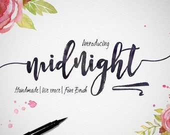 5 digital fonts for 5 dollar - Handwritten and watercolor font download. Calligraphy font. Get these downloadable fonts, perfect for wedding