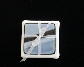 fused glass, coasters