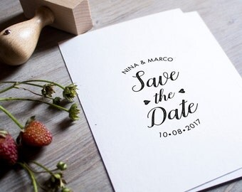 Save the Date personalized design • Wedding monogram • DIY wedding