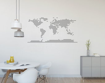 World Map Decal - World Map Wall Decal, Classroom Decor, Classroom Decal, World Map Wall Art