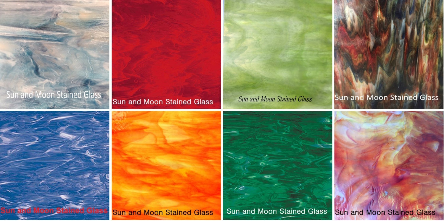 Spectrum Amp Kokomo Stained Glass Pack 8 Sheets Color Of The