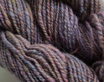 114 yards Hand spun yarn