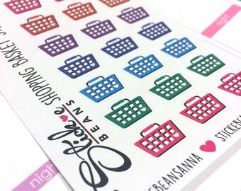 Shopping Basket Stickers