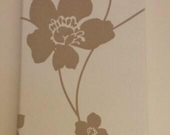 Floral flocked quality Fabric WALL ART - Louvolite Taffeta Cream fabric wall decor