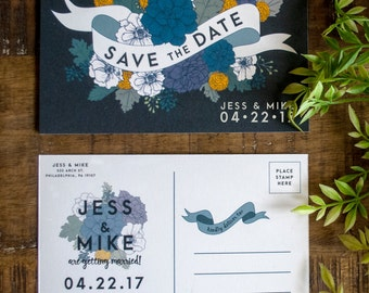 Save the Date Postcard, Succulent Save the Date, Succulent Wedding Invitation, Save the Date Cards, Save the Date, Wedding Invitation