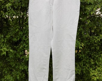 Natural cotton-linnen women's Bison pants