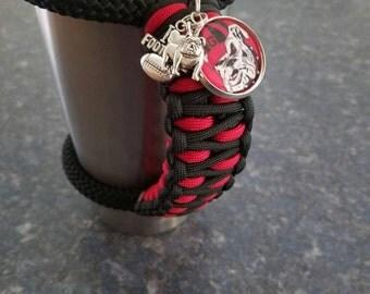 RTIC/Yeti handle in Georgia Bulldog colors with Tag & Charm.