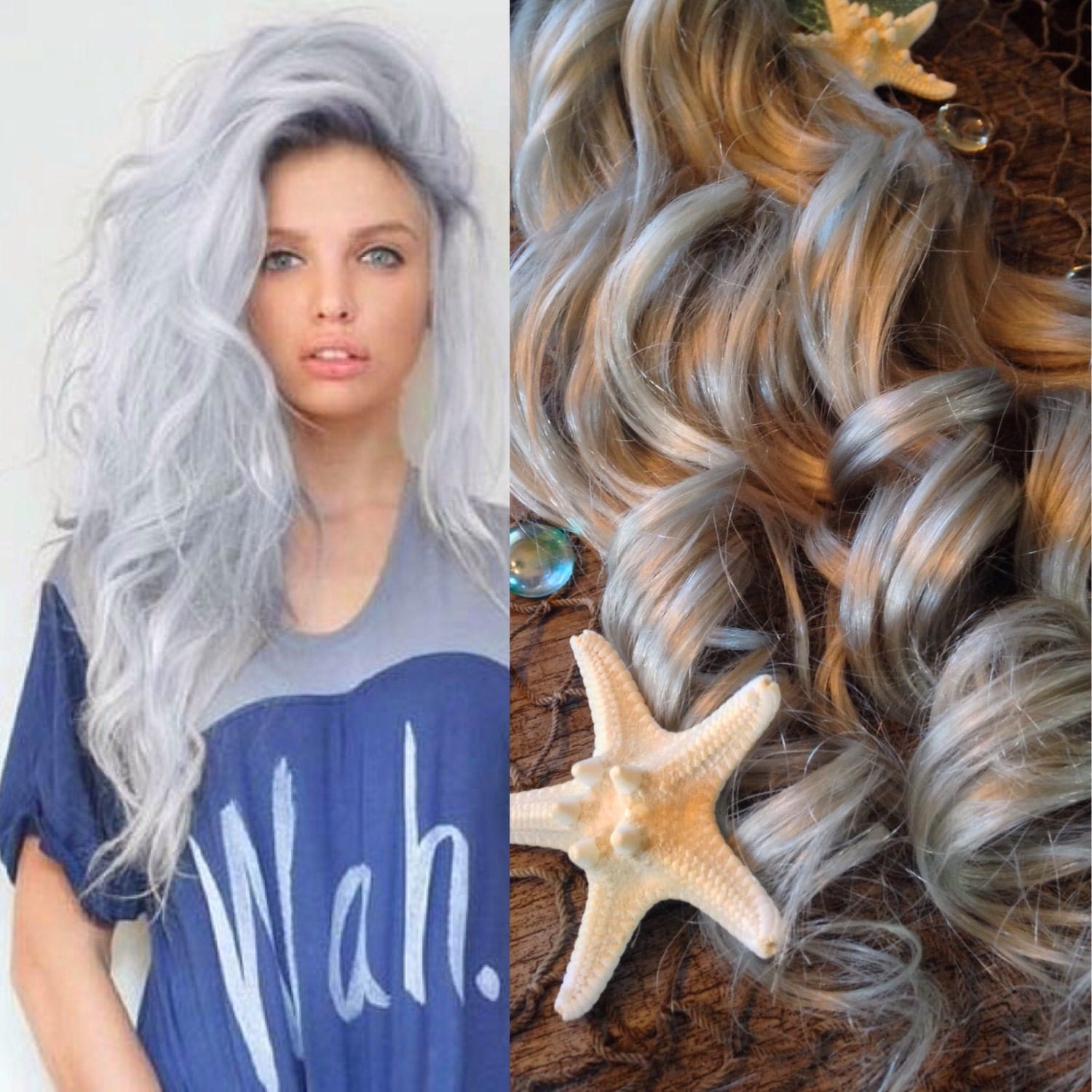 Hair Extensions Opal Hair Silver Hair Grey Hair Platinum