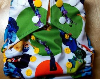 Swim Diaper - Reusable Cloth Swim Diaper - Emotions Yellow