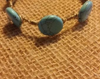 Trendy Turquoise Bangle