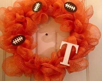 Sports Team Mesh Wreath