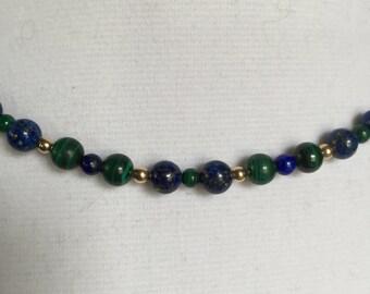 Lapis Lazuli and Malachite Necklace