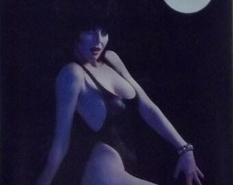 Elvira 23x35 Moonbathing Poster 1987