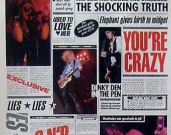 Guns N' Roses 23x35 GN'R Lies Poster 1989 GNR