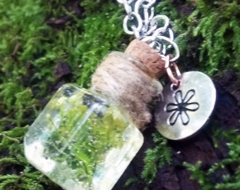 Wildflower Terrarium Necklace