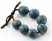Wedgewood blue porcelain bead set-Ronnie's beads