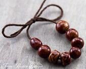 Burnt Sienna Porcelain Bead Set-Ronnie's Beads